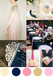 top 7 amazing pink and gold wedding color palettes Wedding Colors Navy And Pink gorgeous navy pink and gold wedding color ideas wedding colors navy blue and pink