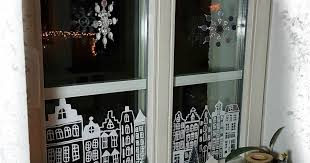 Fenster Dekoration Winter Weihnachten Kreidestift