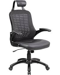 high back mesh office chair with leather effect headrest. ayvek chairs high-back mesh with pu leather swivel office chair headrest, black high back effect headrest k