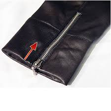 shortening sleeves with zips or studs
