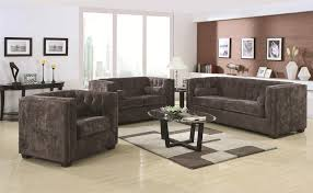 Living Room With Chesterfield Sofa Charcoal Grey Velvet Chesterfield Sofa