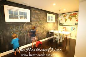 painting basement wallsChalkboard Paint Wall Ideas  alternatuxcom
