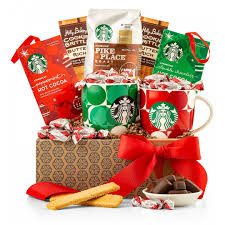 coffee tea gift baskets starbucks morning perks coffee collection