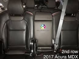 2016 acura mdx showing latch anchors for driver center seats