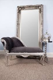 office chaise vintagevibe french style grey suede silver leaf style small chaise longue http ashine lighting workshop 02022016p