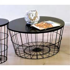 wire coffee table. Round Coffee Table With 15mm Mdf Top Mesh Wire Base In Black Finish.