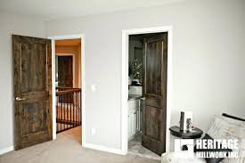 stained doors with painted trim knotty alder stained dark with white trim modern bedroom stained doors with painted trim white