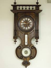 full image for outstanding old wooden wall clock 106 antique wooden wall clocks with pendulum in
