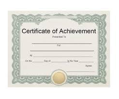Certificates Of Achievements Certificate Template Downloads