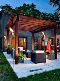 patio pergola ideas inspiration for a mid sized contemporary backyard concrete remodel in with design inspiratio
