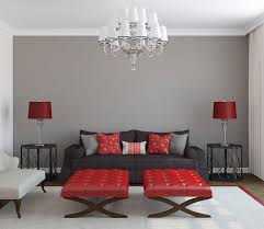 living room ideas with red accent wall. my bedroom? all 4 walls grey, and black furniture with red accents. living room ideas accent wall c