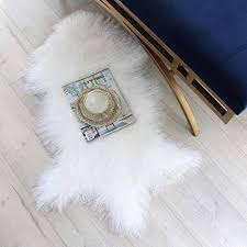 real genuine tibetan rug mongolian lamb wool carpet curly fur pelt throw rug home decorative curly fur soft natural white 43 3 47 2in long and 24 27 5in