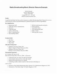 Radio Broadcasting Music Director Resume Interesting Broadcast Engineering Sample Resume Broadcast Operations Resume
