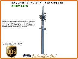 30 foot telescopic push up antenna mast ez tm 30