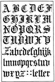 Gothic Letters Use This For Calligraphy