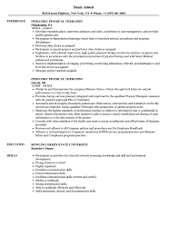 Pediatric Physical Therapist Resume Samples Velvet Jobs