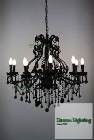 dream lighting 10 arm black crystal chandelier new arriaval