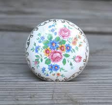 Vintage Antique Porcelain Door Knobs Floral door knobs Pinterest