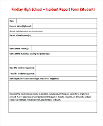 Elementary School Incident Report Form Center For Safety Ohs