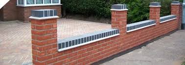 Front Garden Brick Wall Designs Extraordinary Building A Brick Wall Stacieford