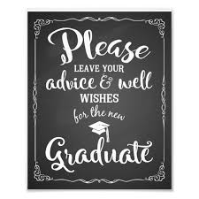 Advice And Well Wishes Graduation Party Sign Zazzle Com