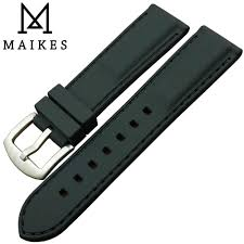 <b>MAIKES New Arrival</b> 20MM <b>High</b> Quality Black Silicone Rubber ...