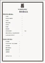 how to make bio data format bio data sample for job fresh make biodata sayininely merce smart site