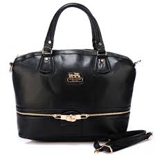 Coach Zip In Logo Large Black Satchels BJK,coach outlet coupon,USA factory  outlet