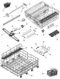 jenn air parts. 03-rail \u0026 rack assembly parts for jenn-air dishwasher jdb1100aws from appliancepartspros. jenn air