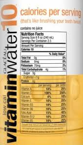 Vitamin Water Nutrition Chart Vitamin Water 10 Now With 25 Calories Aol Finance