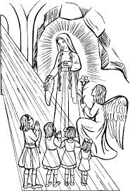 Small Picture Our Lady of the Rosary Catholic Coloring Page Feast day is October
