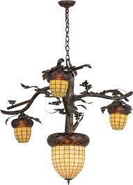 meyda tiffany 160189 acorn branch rustic antique copper burnished chandelier light loading zoom