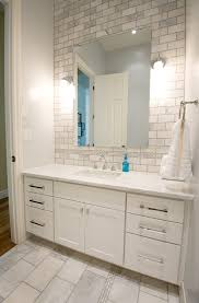 Full Size of Bathroom:best White Subway Tile Bathroom Vanity With Large  Mirror And Sink ...