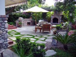 amazing ideas for backyard landscaping on a budget with patio plus a patio furnitures fireplace and