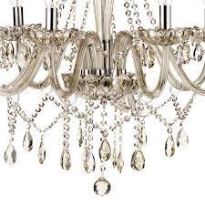 dar raphael traditional 8 light chandelier champagne glass