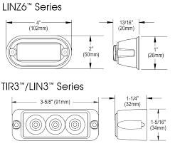 whelen tir3 & lin3™ super led® lightheads Whelen Tir3 Wiring Diagram lin3 and tir3 dimensions Whelen 500 Series Wiring Diagram