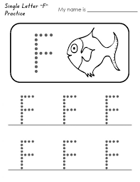 Letter F Tracing Worksheets | Learning Printable