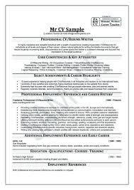 Curriculum Vitae Help Template Resume Builder