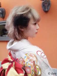 着物に似合うショートショートボブヘアさんのための成人式ヘア