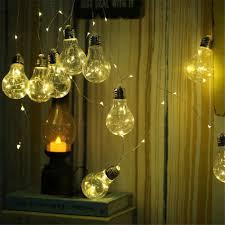Bulb Fairy Lights Solar Powered Outdoor Fairy 10 Led Edison Bulbs String Lights Buy Solar Light Bulb String Light Product On Alibaba Com