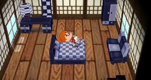 the modern bed sofa wardrobe desk chair and lamp can be seen in this room beautiful minimalist furniture animal crossing