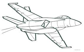 printable fighter jet coloring pages airplane page
