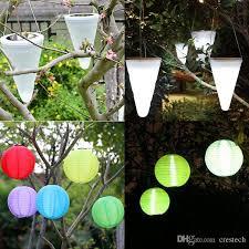 Amazoncom  Allsop Home And Garden Soji Pod White LED Outdoor Chinese Lantern Solar Lights