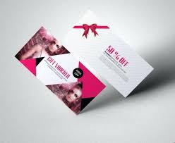 gift card design template fashion voucher free