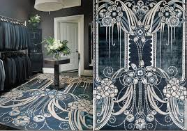 art deco rug. Black Pearl Rug By Catherine Martin Art Deco