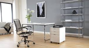 cool offices desks white home office modern. Astonishing Modern Furniture Interior Design Featuring With Grey Exciting Home Office And Contemporary Warehouse White Rectangle Workbench Near Drawer Also Cool Offices Desks H