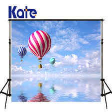 Online Shop Kate Children Photo Background Hot Air Balloon Background Blue  Sky And Cloud Photography Background Large Size Photo For Studio |  Aliexpress ...