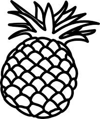 Small Picture Pineapple Outline Clip Art at Clkercom vector clip art online