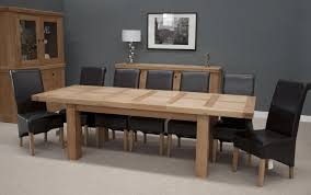 Hippo Oak Large Dining Table 2 Leaf 180cm 260cm X 100cm Blue Kitchen