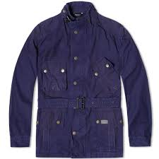 barbour x deus ex machina washed geelong casual jacket peacoat 1